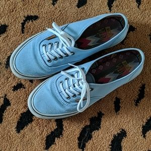 Baby Blue Low Profile Vans